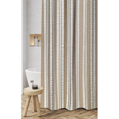 Polen Woven Jacquard 100% Cotton Shower Curtain