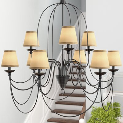 5 Silk Empire Clip-on Candelabra Shade Color: Taupe