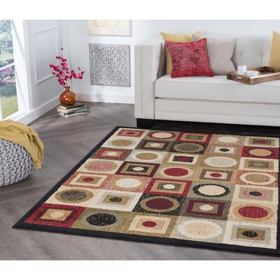Soaita Black Area Rug Rug Size: Rectangle 5 x 7