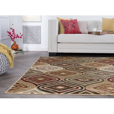 Caudell Beige Area Rug Rug Size: Rectangle 76 x 10