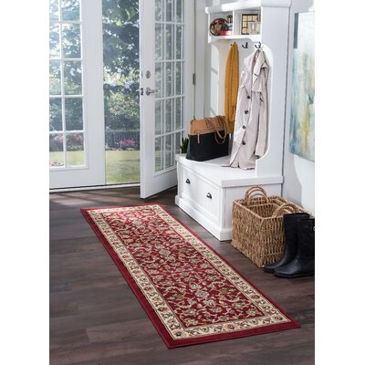 Hoang Red Area Rug Rug Size: Runner 2 x 7
