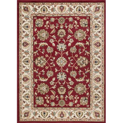 Hoang Traditional Oriental Doormat Color: Red