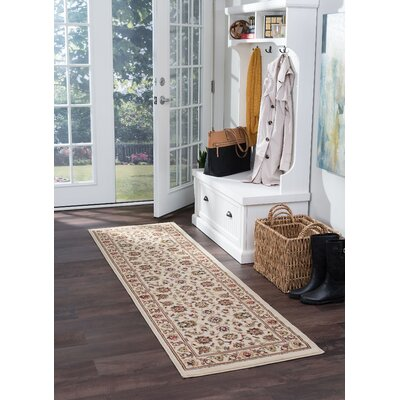 Hoang Ivory Area Rug Rug Size: Runner 2 x 7