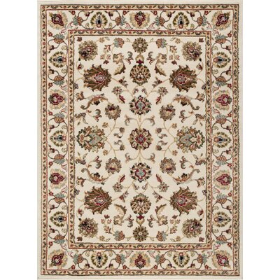 Hoang Traditional Oriental Doormat Color: Ivory