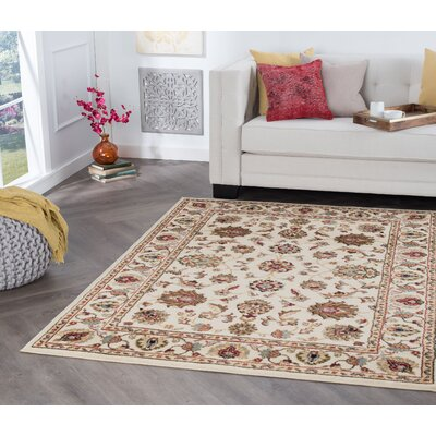 Hoang Ivory Area Rug Rug Size: Rectangle 5 x 7