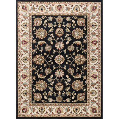 Hoang Traditional Oriental Doormat Color: Black