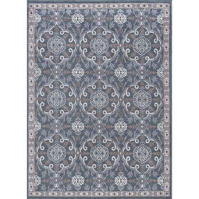 Hoban Traditional Brocade Doormat Color: Gray