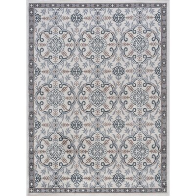 Hoban Traditional Brocade Doormat Color: Cream