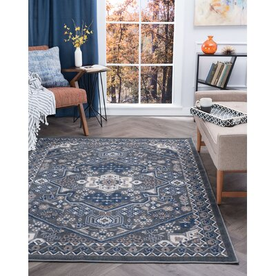 Westerlund Gray Area Rug Rug Size: Rectangle 4 x 5