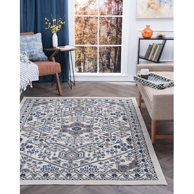 Westerlund Cream Area Rug Rug Size: Rectangle 76 x 10