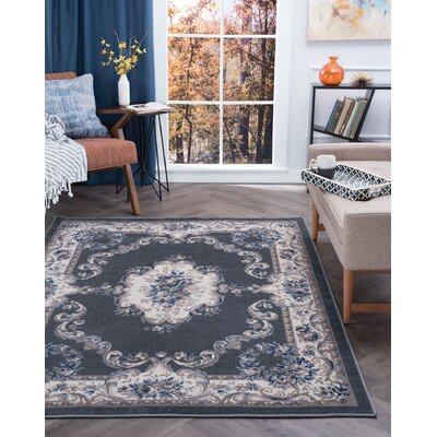 Riter Gray Area Rug Rug Size: Rectangle 9 x 126