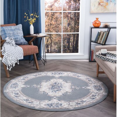 Riter Gray Area Rug Rug Size: Round 5