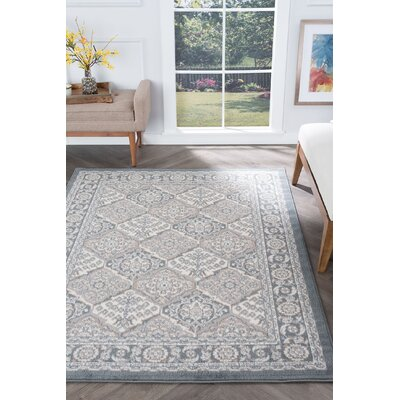 Hobbs Gray Area Rug Rug Size: Rectangle 4' x 5'