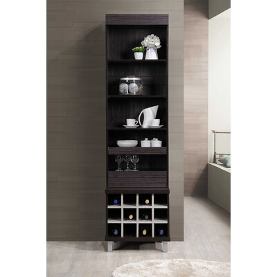 Liptak Standing 12 Bottle Floor Wine Rack Finish: Chocolate