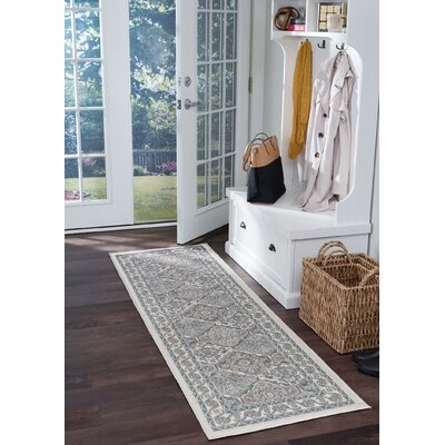 Hobbs Cream Area Rug Rug Size: Runner 2 x 7