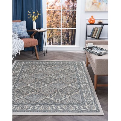 Hobbs Cream Area Rug Rug Size: Rectangle 5 x 7