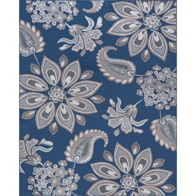 Moyo Navy Area Rug Rug Size: Rectangle 5 x 7