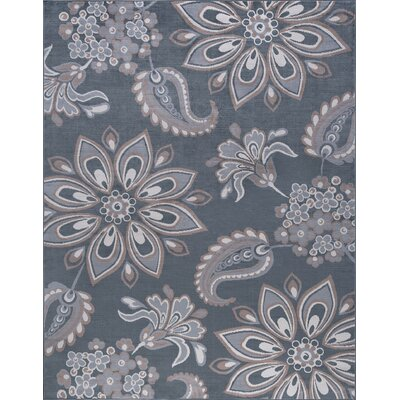 Moyo Gray Area Rug Rug Size: Rectangle 76 x 10