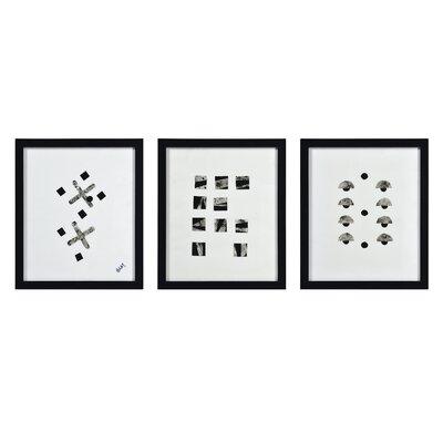 'Zane' 3 Piece Framed Oil Painting Print Set 20DA28246C1F4FF5A7773817904B14CF