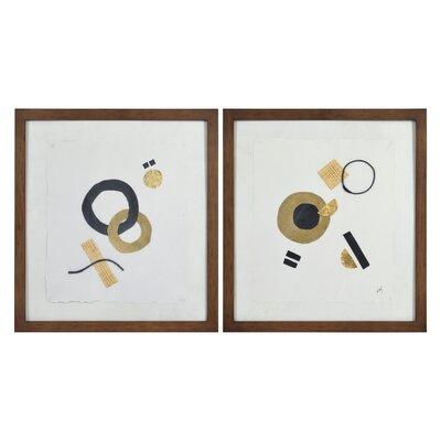 'Globo' 2 Piece Framed Oil Painting Print Set on Glass 033128B1E7E5437698E91549EBCB9963