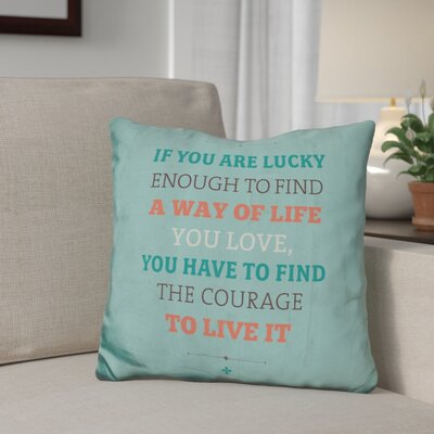 Gillon A Way of Life Throw Pillow