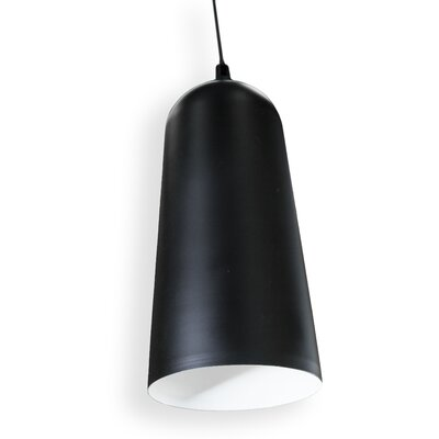 Doty 1-Light Mini Pendant Finish: Black
