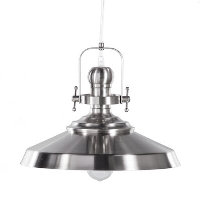 Dutil 1-Light Inverted Pendant Finish: Brushed Nickel