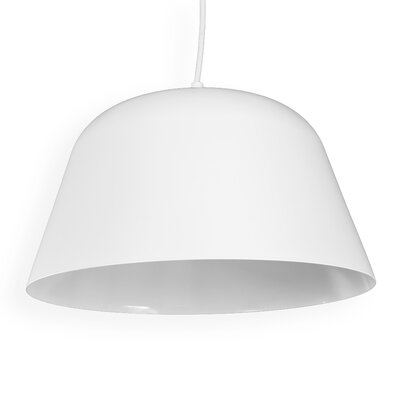 Doster 1-Light LED Mini Pendant Finish: White