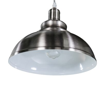 Girouard 1-Light Inverted Pendant Finish: Brushed Nickel