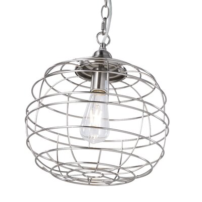 Dostie 1-Light LED Globe Pendant Finish: Brushed Nickel