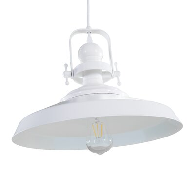 Dutil 1-Light Inverted Pendant Finish: White