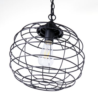 Dostie 1-Light LED Globe Pendant Finish: Black