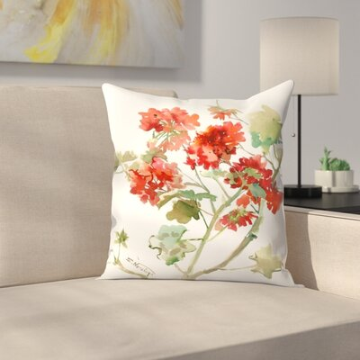Suren Nersisyan Geranium 2 Throw Pillow Size: 18 x 18