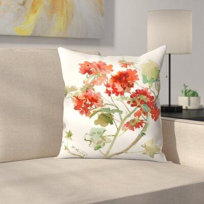 Suren Nersisyan Geranium 2 Throw Pillow Size: 16 x 16