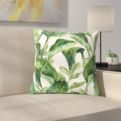 Banana Leaves Outdoor Throw Pillow Size: 18 H x 18 W x 5 D