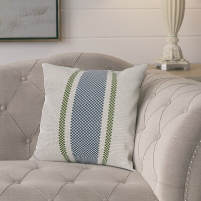 Laymon Grain Sack Throw Pillow Color: Navy Blue, Size: 20 x 20