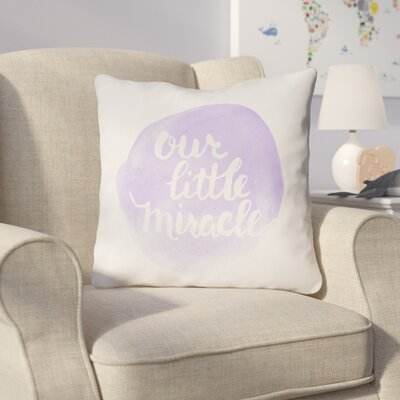 Gianna Indoor/Outdoor Throw Pillow Size: 20 H x 20 W x 4 D, Color: Purple