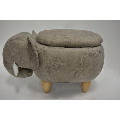 Overlock Elephant Storage Ottoman Upholstery: Storm