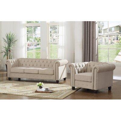 Howington 2 Piece Living Room Set Upholstery: Beige