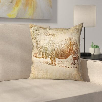 Vintage Animal Color 9 Throw Pillow Size: 20 x 20