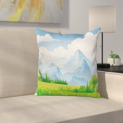 Meadow with Daisy Cushion Pillow Cover Size: 18 x 18