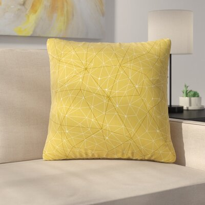 Throw Pillow Size: 16 H x 16 W x 6 D, Color: Yellow