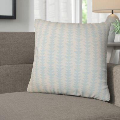 Lorelai Geometric Cotton Throw Pillow Color: Sky Blue