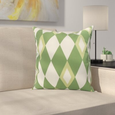 Secrest Throw Pillow Color: Green, Size: 16 x 16