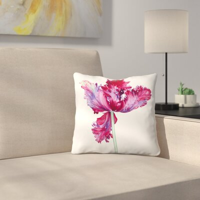Parrot Tulip No 5 Throw Pillow Size: 16 x 16