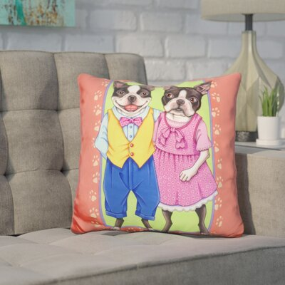 Cordray Terrier Couple Throw Pillow
