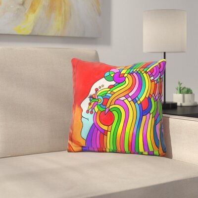 Cosmic Profile Throw Pillow