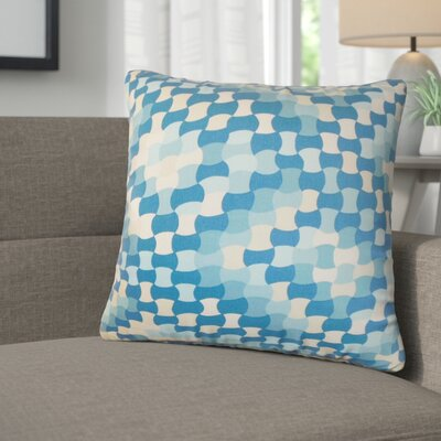 Alaya Geometric Cotton Throw Pillow Color: Aquamarine