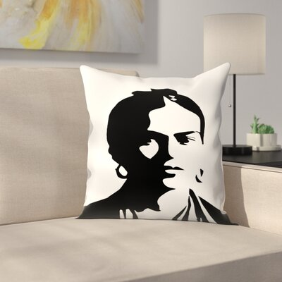 Frida Kahlo Throw Pillow Size: 18 x 18