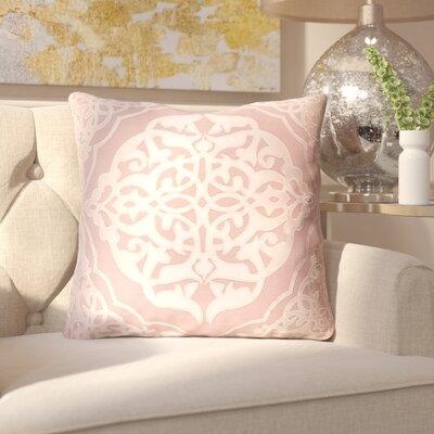 Dylan Throw Pillow Size: 22 H x 22 W x 4 D, Color: Rose/Blush